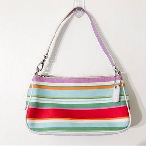 coach | multicolor stripe shoulder bag